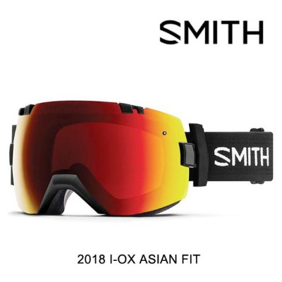 2018 SMITH スミス ゴーグル GOGGLE I/OX BLACK/CHROMAPOP SUN RED MIRROR+CHROMAPOP STORM ROSE FLASH ASIAN FIT