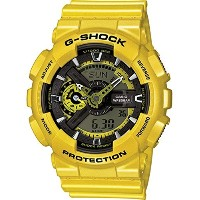 時計 Casio カシオ G-Shock Yellow Analog Digital Dial Resin Quartz Men's Watch GA110NM-9A メンズ 男性用 [並行輸入品]