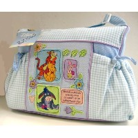 Disney Winnie the Pooh Baby Blue Gingham Diaper Bag by Disney