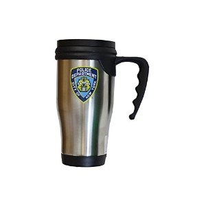 NYPD Travel Mug Officially Licensed New York Police Coffee Cup Stainless Steel by NYC FACTORY