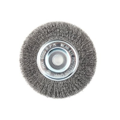 Lincoln Electric KH320 Crimped Wire Wheel Brush, 6000 rpm, 6 Diameter x 1/2 Face Width, 5/8 x 1/2...