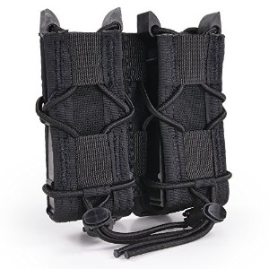 High Speed Gear Double Pistol TACO Mag Pouch MOLLE、Made in the USA ブラック