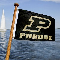 PurdueボートとNautical Flag