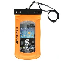 Gecko Unisex Waterproof Submerge or Float iPhone/Mobile Phone Dry Bag, Bright Orange, OS by...