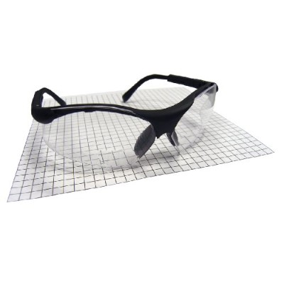 SAS Safety SAS541-2000 Sidewinders Safety Glasses with Black Frames and 2.0X Reader Lens