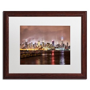 商標FineアートMidtown Manhattan Over Theハドソン川入りアートby David Ayash 16 by 20-Inch MA0492-W1620MF