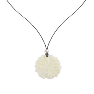 Les Poulettes Jewels–ネックレスFlower母のパール