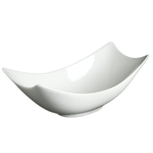 Fortessa Fortaluxe SuperWhite Vitrified China Dinnerware, 13-Inch Rectangular Flair Serving Bowl by...