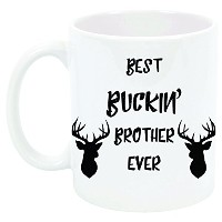 """ Best Buckin ' Brother Ever ""コーヒーマグ、ギフト、Brother、11オンス、セラミック"