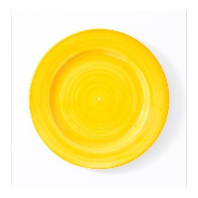 Euro Ceramica Arena Spinwash夕食plate-yellow 10 ""