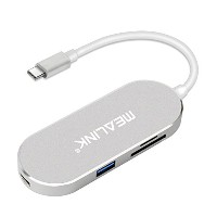 MEALINK USB 3.1 Type-C to HDMI変換アダプタ 6-In-1 Hub 2*USB3.0+HDMI+PDアダプタ 充電ポー+TF(Micro SD)+SDカードリ...