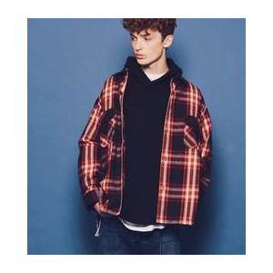monkey time  HEAVY TWILL CHECK CPO/シャツ【ビューティアンドユース ユナイテッドアローズ/BEAUTY&YOUTH UNITED ARROWS メンズ シャツ...