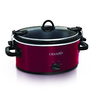 【並行輸入】Crock-Pot SCCPVL400-R 4-Quart Cook and Carry Slow Cooker, Red Stainless Steel スロークッカー