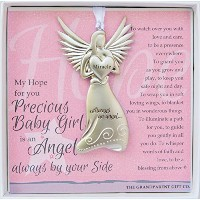 Always an Angel New Baby Boy New Baby Girl Keepsake Gift (Baby Girl) by The Grandparent Gift Co.