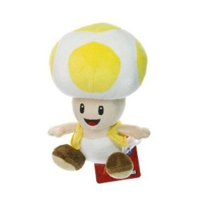 【送料無料】【Yellow Toad ~6.75 Plush - New Super Mario Bros Wii Plush Series by Nintendo】 b004xnecm2