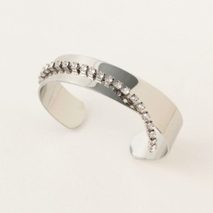 SALE【ギルドプライム(GUILD PRIME)】 【MONDAY EDITION】バングル-dropped crystal bangle MEBR-16FW10SV/GB- シルバー