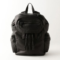 SALE【GUILD PRIME ギルドプライム】 【ALEXANDER WANG】MARTI BACKPACK IN WASHED BLACK WITH MATTE BLACK/21B0018...