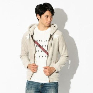 SALE【ギルドプライム(GUILD PRIME)】 【Education from Youngmachines】MENS スターパッチボアパーカー グレー