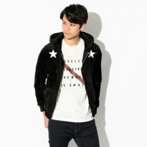 SALE【GUILD PRIME ギルドプライム】 【Education from Youngmachines】MENS スターパッチボアパーカー ブラック メンズ