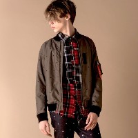 SALE【ギルドプライム(GUILD PRIME)】 【Education from Youngmachines】MENS スターエンブロイMA-1 カーキ