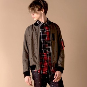 SALE【ギルドプライム(GUILD PRIME)】 ☆☆【Education from Youngmachines】MENS スターエンブロイMA-1 カーキ