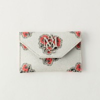 SALE【GUILD PRIME ギルドプライム】 【ALEXANDER McQUEEN】財布-Insignia Envelope Card Holder 439197DYB0I- ホワイト...