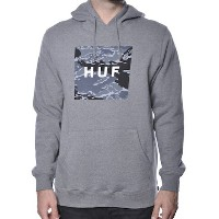 HUF Tiger Camo Pullover Hoodie Grey Heather L パーカー