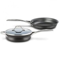 カルファロン 直径25cm Calphalon 3-pc. Unison Nonstick Sear and Slide Essentials Set with Lid 1832150
