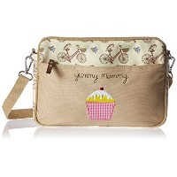 Pink Lining Mini Yummy Mummy In The Mews Bag, Pink Bikes, Blue, Brown by Pink Lining