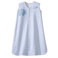 Halo SleepSack Wearable Blanket Cotton Stripe, Blue, Large by Halo