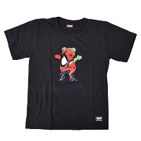 GRIZZLY グリズリー キッズ 半袖 Tシャツ PTEE-SPIDER-MAN BLACK L