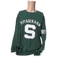 NCAA Michigan State Spartansメンズ長袖Tシャツ, Large ,グリーン/ホワイト