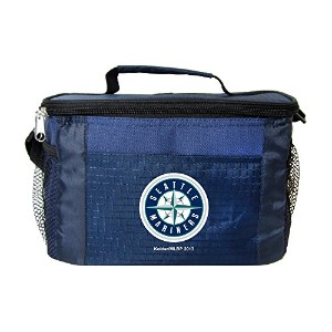 MLB Seattle Mariners Insulated Lunch Cooler Bag with Zipper Closure、ネイビー