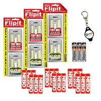 Nebo 6523Flipit 6パックマウントAnywhereワイヤレス磁気LEDライトwith 3Extra Energizer Aaa電池とLightJunctionキーチェーンライト