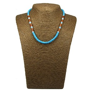 Puka necklace-18inch-surfer necklace-tropical necklace-beachネックレス–シェルnecklace-hawaiian necklace...