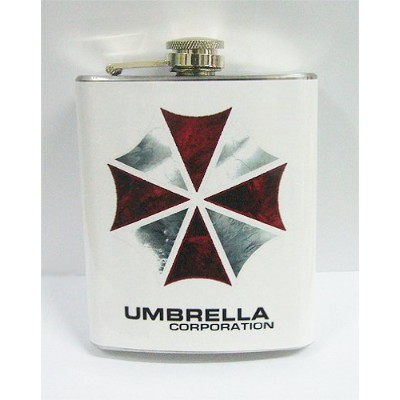 Resident Evil Umbrella Corp 7 oz Stanless鋼フラスコ