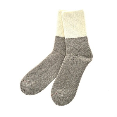 ROTOTO / TEASEL SOCKS Outlast WHITE/GRAY M(25-27)