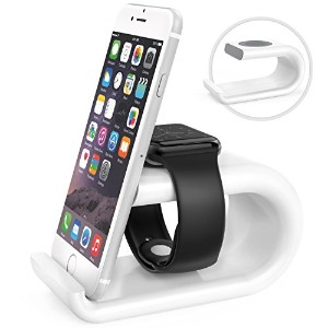 【Apple Watch iPhone Stand iWatch Acrylic Charging Stand Bracket Docking Station Stock Cradle Holder...