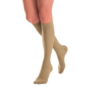 JOBST UltraSheer 8-15 mmHg Closed Toe Knee Support Stocking, Sun Bronze, Large by Jobst
