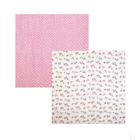 Mud pie Swaddle Blanket Set 2枚セット 2.Pink.Elephant [並行輸入品]