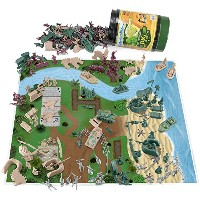 【260 Piece Tiny Troopers Big Battle Drum Army Man Playset with Vehicles Provisions and Playmat by...