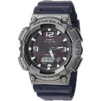 [カシオ] CASIO 腕時計 Men's 'Tough Solar' Quartz Resin Casual Watch, Color:Black クォーツ AQ-S810W-1A4VCF メンズ...