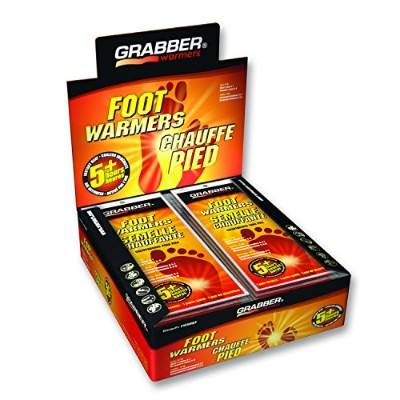Grabber Warmers 5+ Hour Ultra Thin Foot Warmer Insoles, ( Medium/Large), 30 Count by Grabber