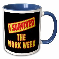 3drose Dooni Designs Survive Sayings – I Survived the work週Survival Pride andユーモアデザイン – マグカップ 11 oz...