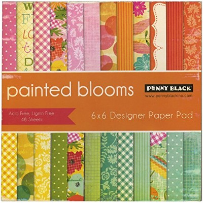 Penny Black 80-009 Painted Blooms Paper Pad, 6 x 6 by Penny Black