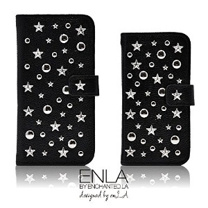 ENLA BY ENCHANTED.LA STAR STUDDED NOTEBOOK TYPE LEATHER CASE - #Dreamy Stars iPhone 手帳型 スタースタッズ...