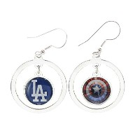 Los Angeles Dodgers Captain America Two SidedシルバーフープイヤリングジュエリーLa
