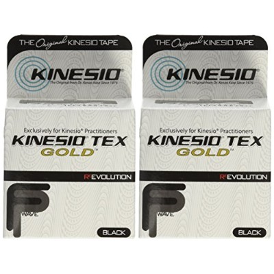 Kinesio Tex GoldTM Tape TWO Rolls 2 x 16.4' Black by Kinesio Tex