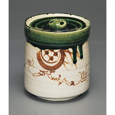 茶道具商 左座園 織部 水指 oribe mizusashi/fresh-water container