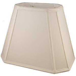 American Pride Lampshade Co. 04-78093218 Rectangle Soft Tailored Lampshade, Shantung, Light Beige ...